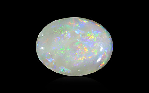 White Opal with Fire - 3.52 carats