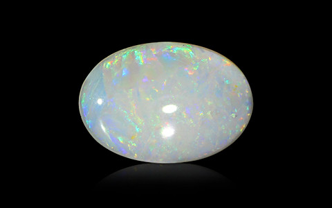 White Opal with Fire - 4.31 carats