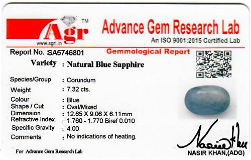 Blue Sapphire - 7.32 carats