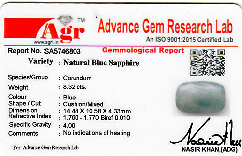 Blue Sapphire - 8.32 carats