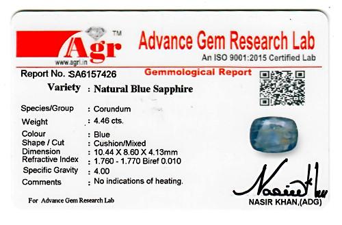 Blue Sapphire - 4.46 carats