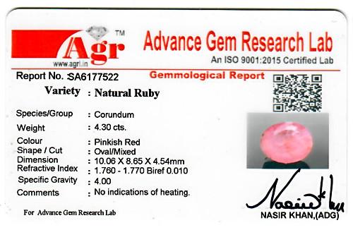 Ruby - 4.30 carats