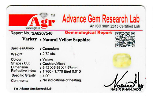 Yellow Sapphire - 2.72 carats