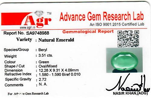 Emerald - 3.51 carats