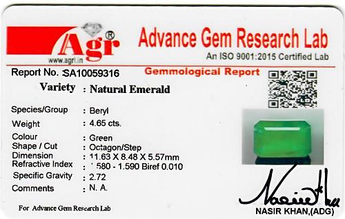 Emerald - 4.65 carats