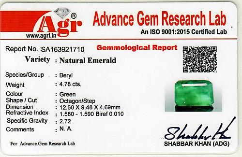 Emerald - 4.78 carats