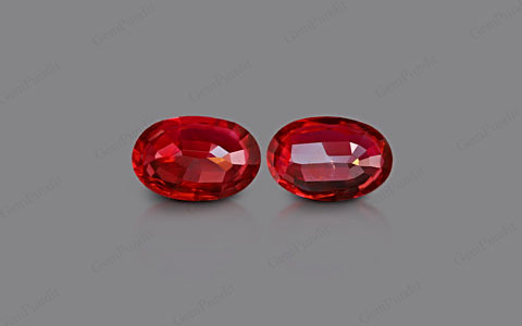 Pigeon Blood Ruby Pair - 2.20 carats
