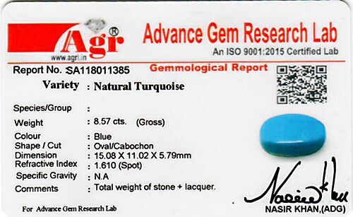 Turquoise - 8.57 carats