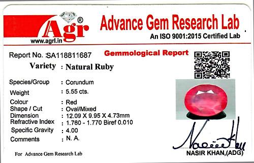 Ruby - 5.75 carats