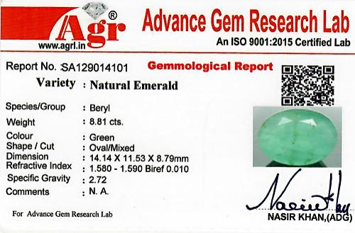 Emerald - 8.81 carats