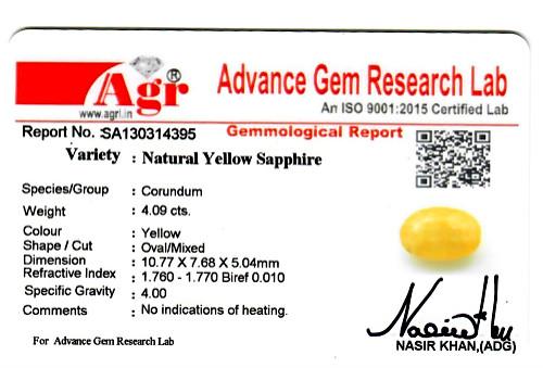 Yellow Sapphire - 4.09 carats