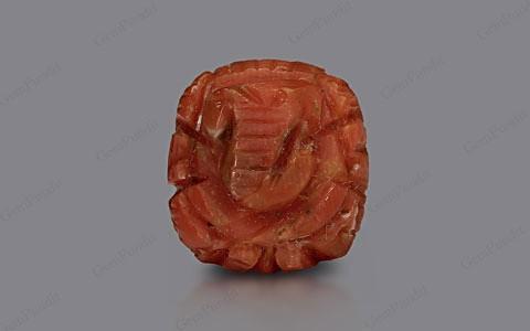 Red Coral Ganesha - 9.14 carats