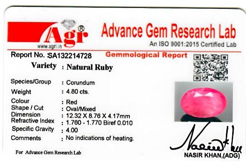 Ruby - 4.80 carats