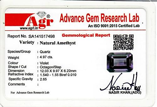 Amethyst - 4.97 carats