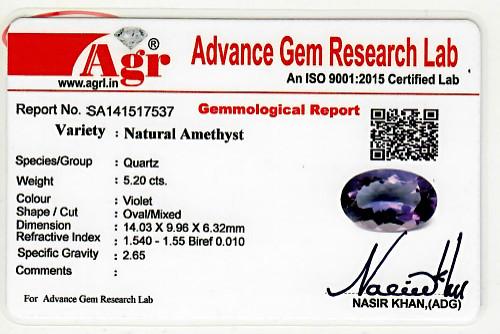 Amethyst - 5.20 carats