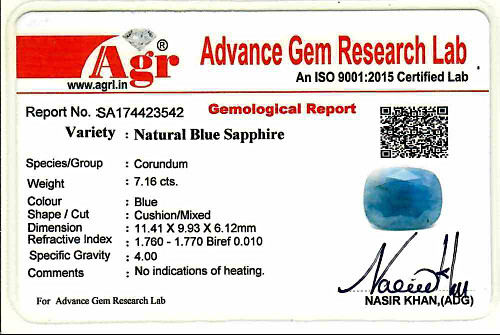 Blue Sapphire - 7.16 carats