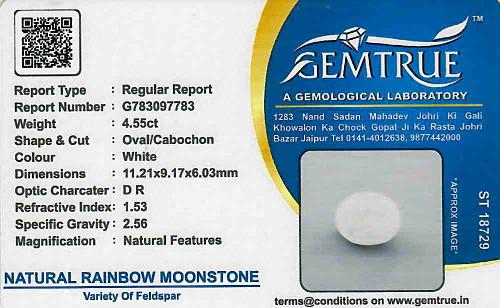 Rainbow Moonstone - 4.55 carats