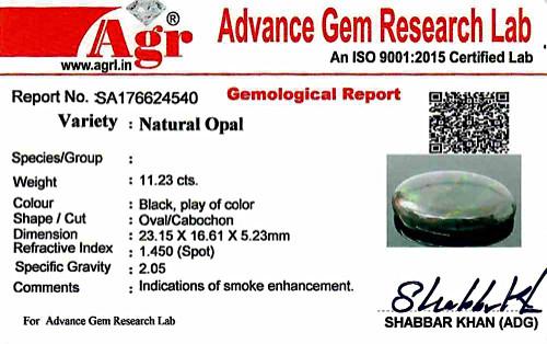 Black Opal - 11.23 carats