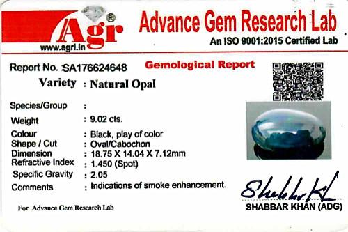 Black Opal - 9.02 carats