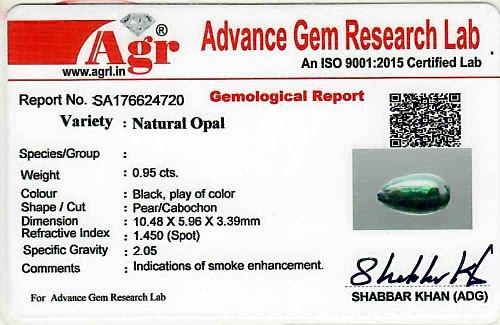 Black Opal - 0.95 carats