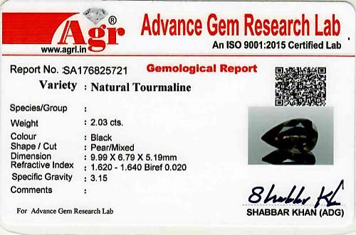 Black Tourmaline - 2.03 carats