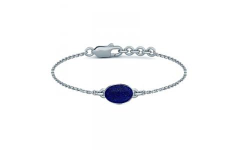 Lapis Lazuli Sterling Silver Bracelet (B2) for Women