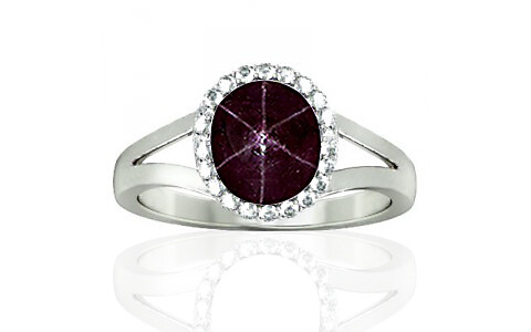 Star Ruby Sterling Silver Ring (A2-Sparkle)