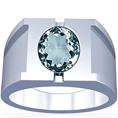 Aquamarine Silver Ring (A15)