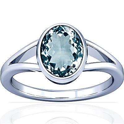 Aquamarine Silver Ring (A2)
