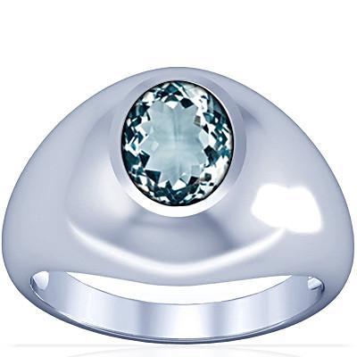 Aquamarine Silver Ring (A3)