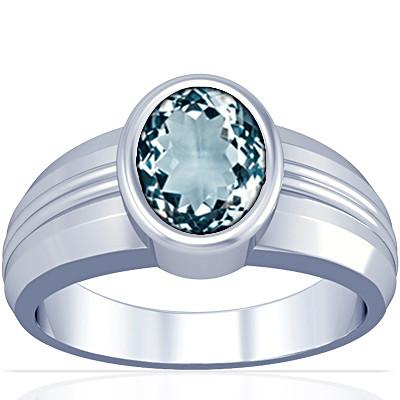 Aquamarine Silver Ring (A4)
