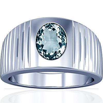 Aquamarine Silver Ring (A5)