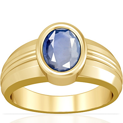 Blue Sapphire Gold Ring (A4)