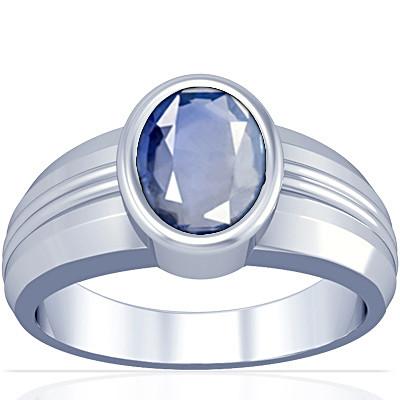 Blue Sapphire Silver Ring (A4)