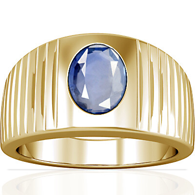 Blue Sapphire Gold Ring (A5)