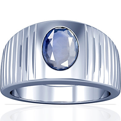 Blue Sapphire Silver Ring (A5)