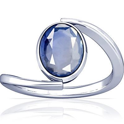 Blue Sapphire Silver Ring (A6)