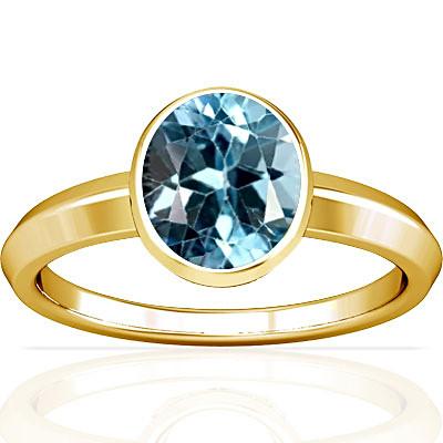 Blue Topaz Gold Ring (A1)