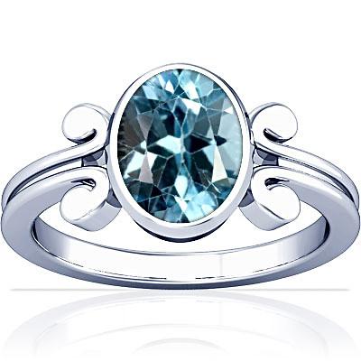 Blue Topaz Silver Ring (A10)