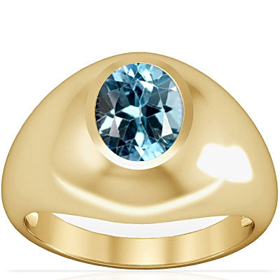 Blue Topaz Gold Ring (A3)