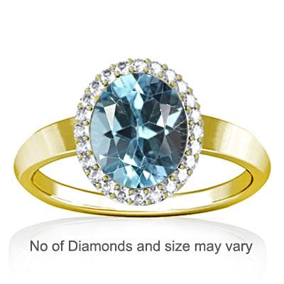 Blue Topaz Panchdhatu Ring (R1-Sparkle)
