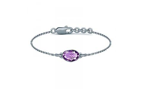 Amethyst Sterling Silver Bracelet (B2) for Women
