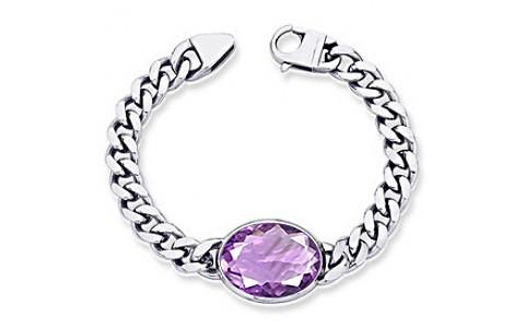 Amethyst Silver Bracelet (B1)