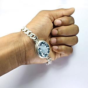 Aquamarine Silver Bracelet (B1)