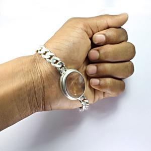 Sunstone Silver Bracelet (B1)