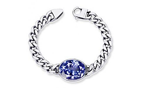 Tanzanite Silver Bracelet (B1)
