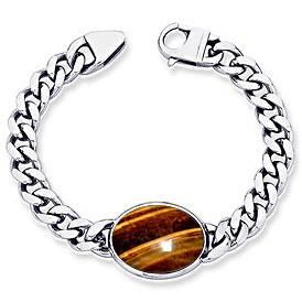 Tiger Eye Silver Bracelet (B1)