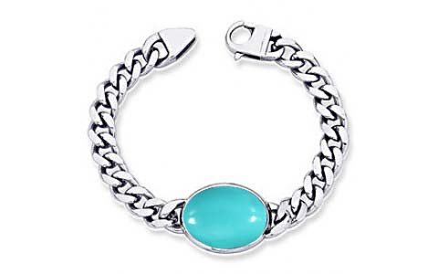 Turquoise Silver Bracelet (B1)