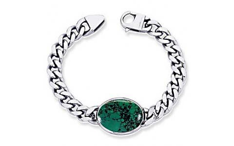 Turquoise Silver Bracelet (B1)