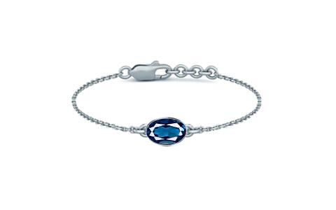 London Blue Topaz Sterling Silver Bracelet (B2) for Women